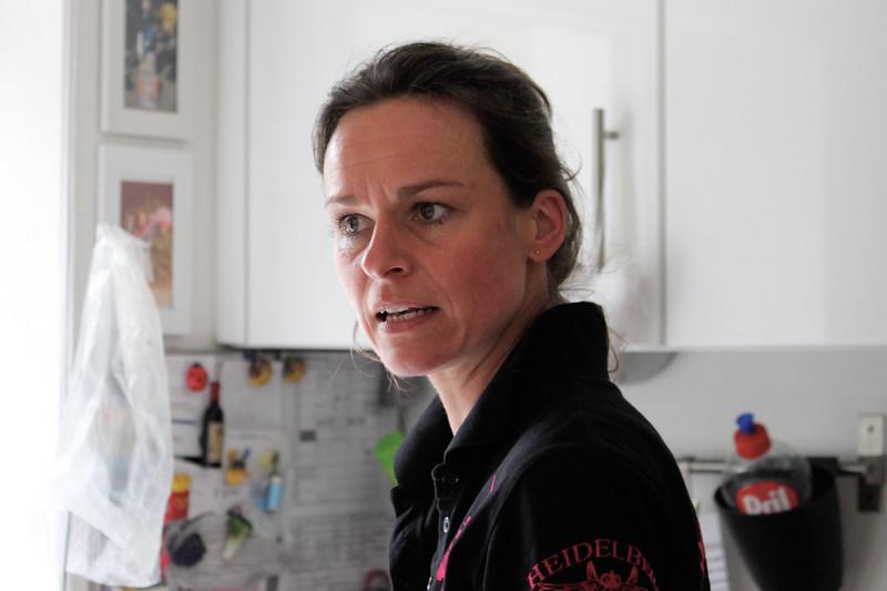 Anne in her kitchen