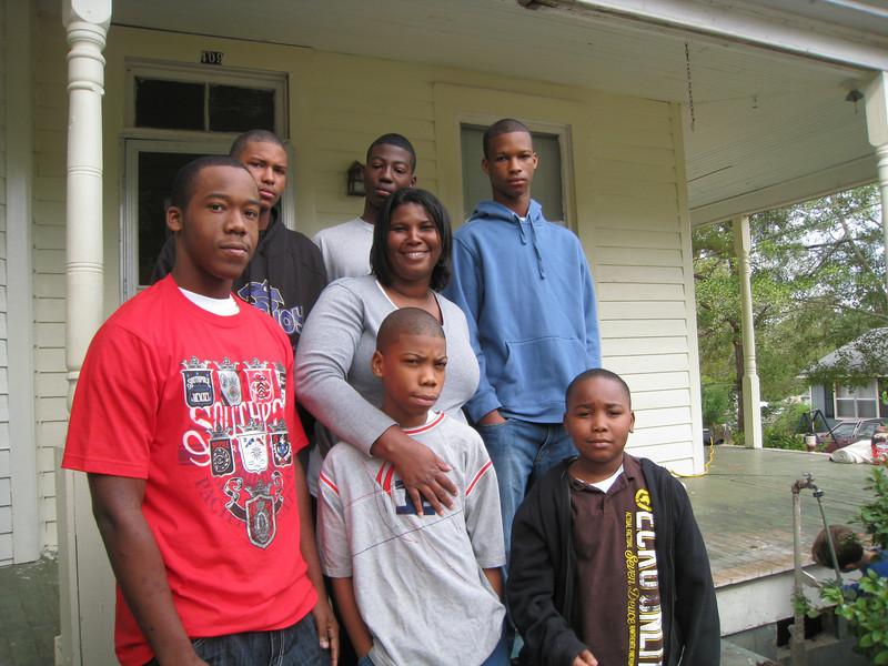 09 10-24 Juia Tyner and her sons, Trey, T.J., Kive and nephews, Quashon, Qua and Trendons.