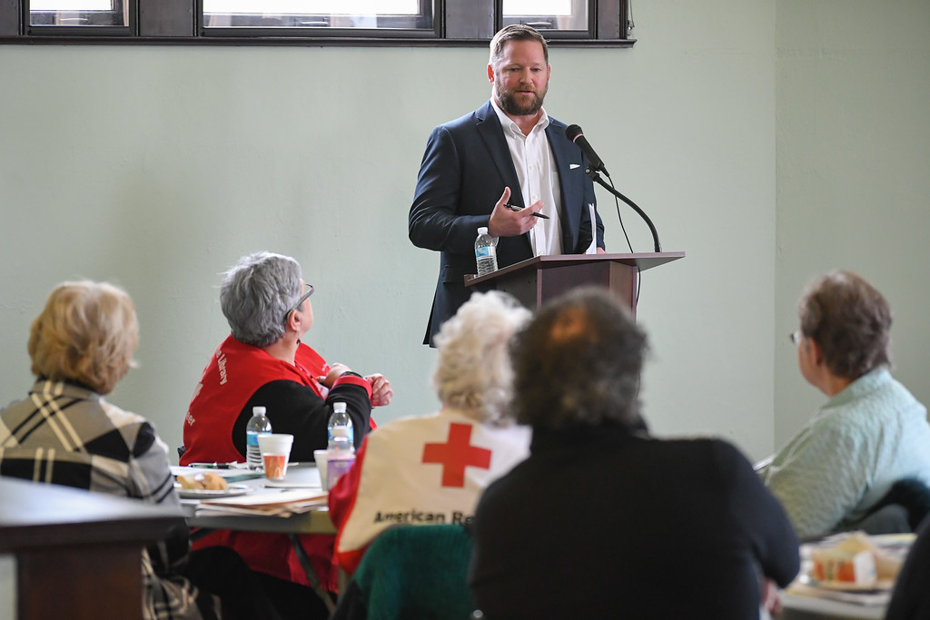 . Jeff Siegler, director of revitalization at Heritage Ohio, serves as guest speaker during the Dr. Martin Luther King Jr. Community Volunteer Fair, held at the Lorain Historical Society\'s Carnegie Center, 329 W. 10th St., Lorain, Jan. 16, 2017. (Eric Bonzar/The Morning Journal)