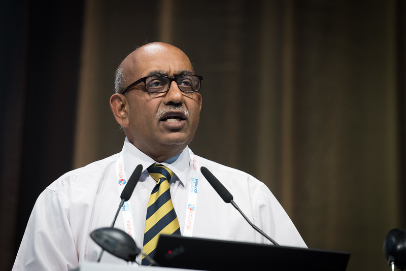 22nd International AIDS Conference (AIDS 2018) Amsterdam, Netherlands   Copyright: Marcus Rose/IAS  Photo shows: STI 2018. Speaker: Raj Patel.