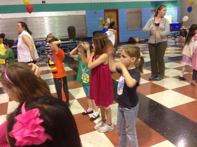 School dance party (it's the Macarena).