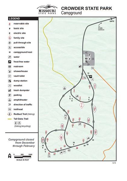 Crowder State Park (Campground Map)