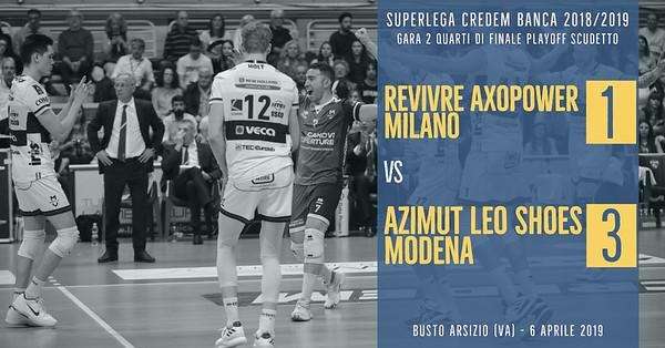 PO-4i-Gara2: Revivre Axopower Milano - Azimut Leo Shoes Modena