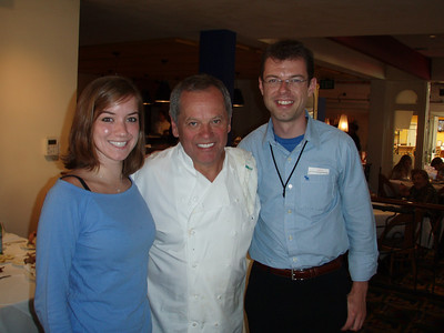 Wolfgang Puck at the closing of Spago Palo Alto