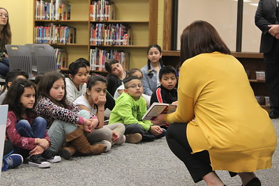 Moore students present translated children's books at West Lincoln Elementary