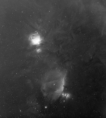 M42 and NGC2244 Regions In H-Alpha Narrowband