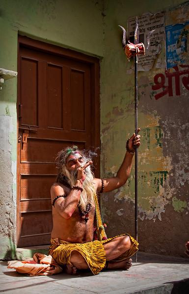 Indian Guru Smoking Ganja