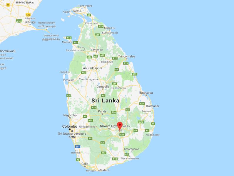 Ella, Sri Lanka Map