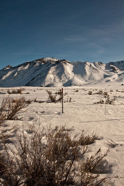 Snow covered Long Valley and KMMH plane spotting - March 14 2010