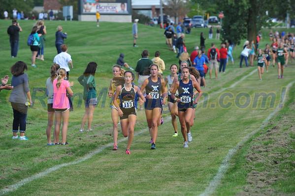 Girls' Varsity Mid Race - 2016 Oakland U. Golden Grizzly HS XC Invite