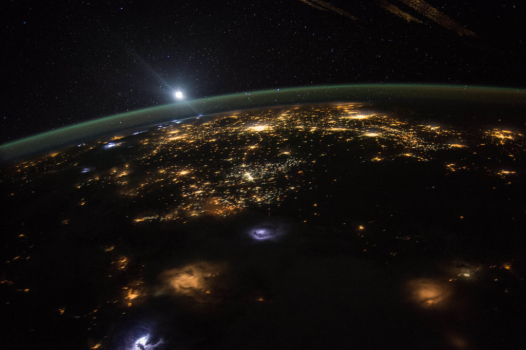 . This Aug. 10, 2015 photo made available by NASA shows a sunrise from the vantage point of the International Space Station, about 220 miles above the surface of the Earth. Traveling at a speed of approximately 17,500 mph, the station completes each orbit around the planet in about 92 minutes, with 16 sunrises and sunsets each 24-hour period. (Scott Kelly/NASA via AP)