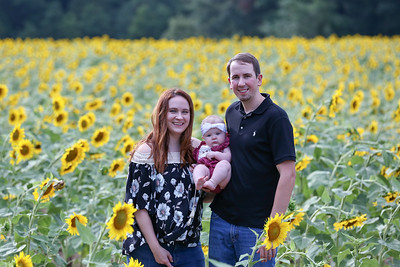 Matt + Natalie Sunflowers 2019
