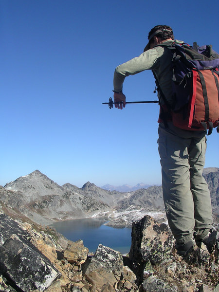 Scott getting ready to climb up the final push to Mt. Maude.