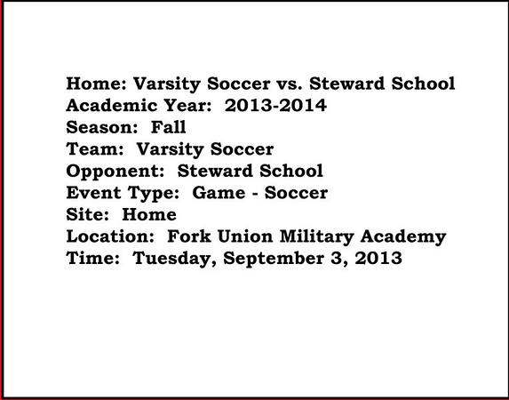 Varsity Soccer vs Steward School