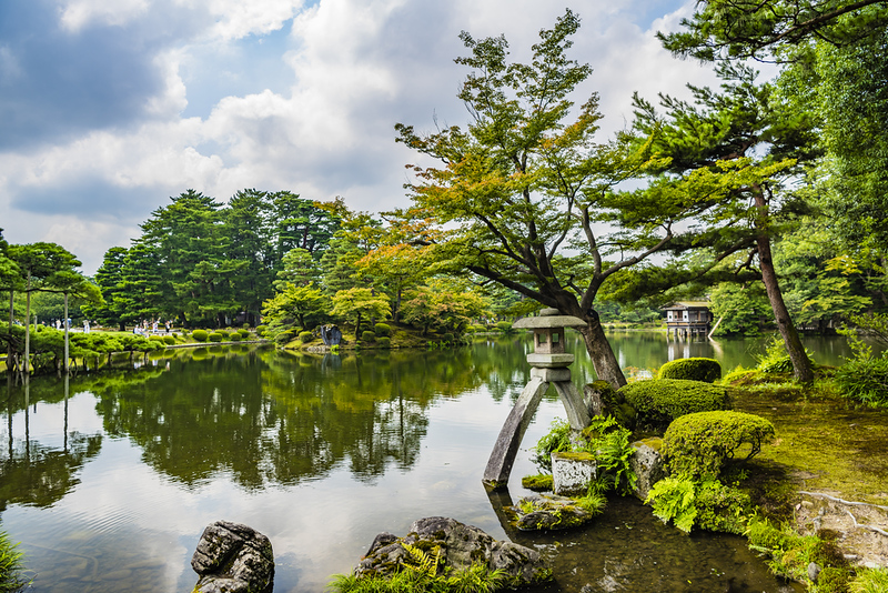 Kenroku-en located in Kanazawa, Ishikawa. Editorial credit: Cyrus_2000 / Shutterstock.com