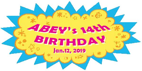 20190112 Abey's 14th Birthday
