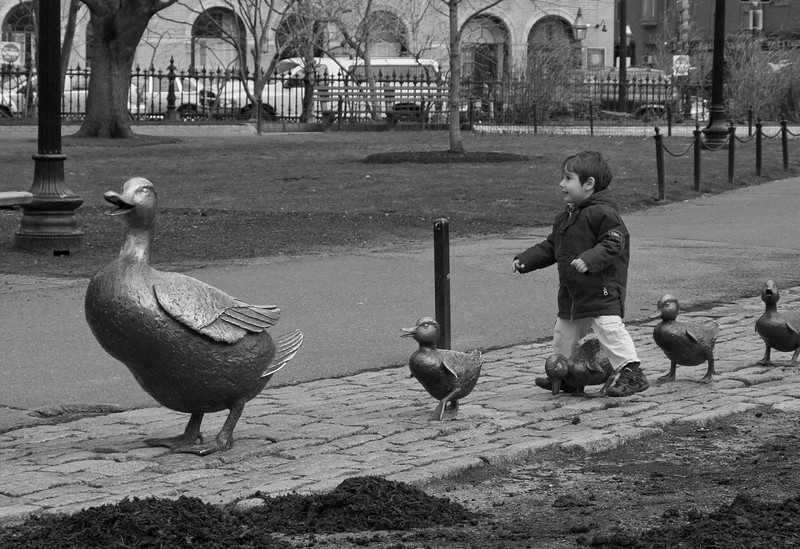 Make Way for Ducklings sculpture in the Boston Common  April, 2007
