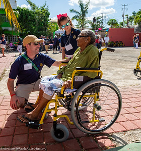 Wheelchair Distribution With Local Rotarians