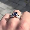 2.08ctw Sapphire and Diamond Ring, GIA No-Heat 21