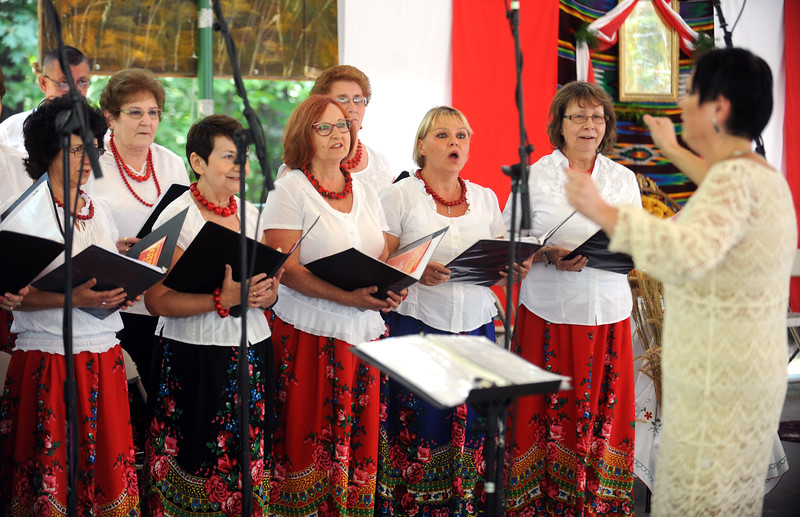 8/26/2017 Mike Orazzi | Staff Members of the Polonia Paderewski Choir perform during the Annual Dozynki Festival at Falcon Field in New Britain on Saturday.