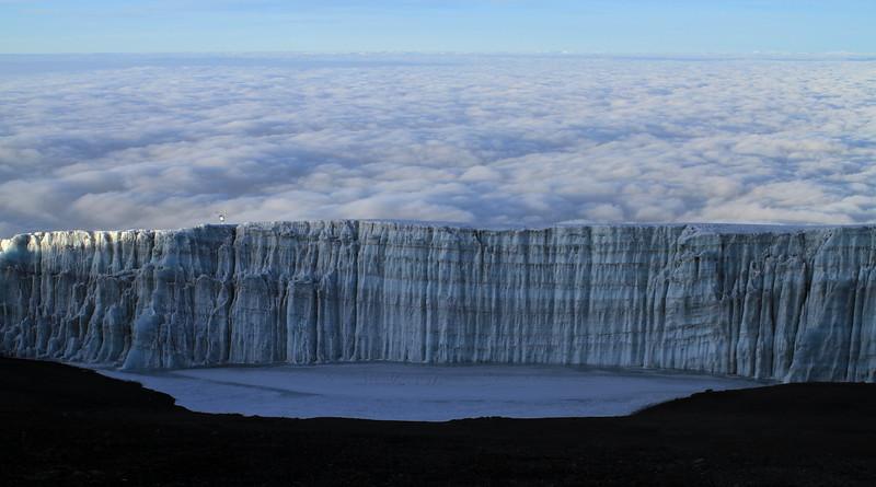 Kilimanjaro's diminishing ice cap...
