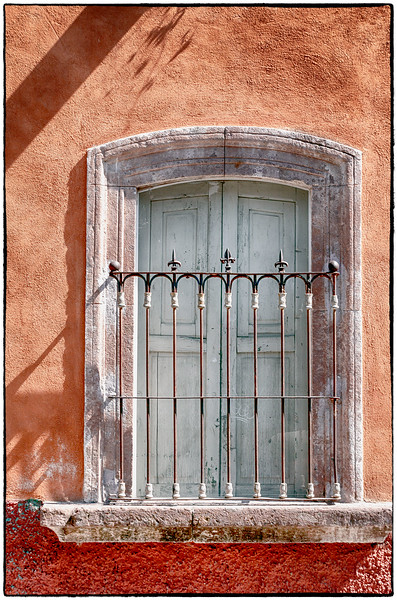 Window with Iron Spikes