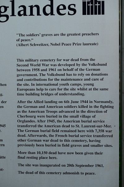 Information about the German cemetery in Orglandes