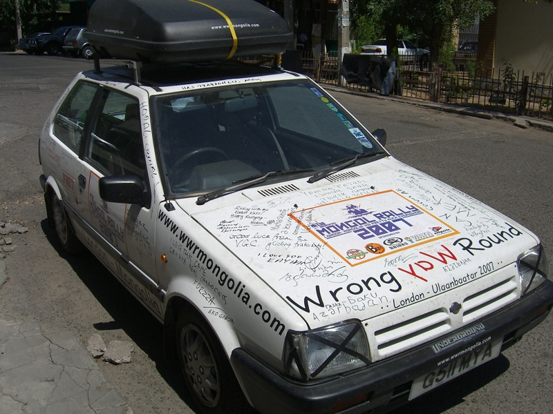 Mongol Rally Car - Tashkent, Uzbekistan