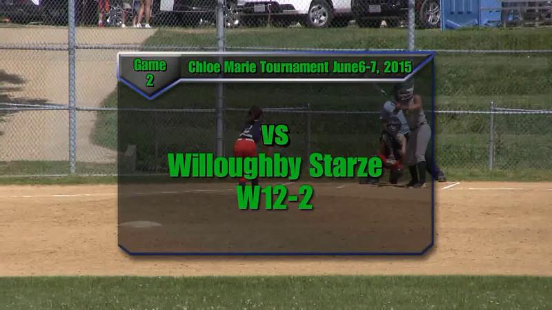 Sundogs June 6-7, 2015 Chloe Marie Tournament Game 2 vs Willoughby Starze W12-2