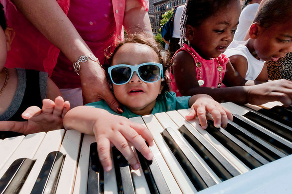Sing for Hope Pop-Up Piano at Montefiore Park in Hamilton Heights