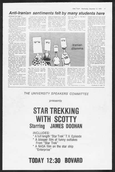 Daily Trojan, Vol. 87, No. 58, December 12, 1979