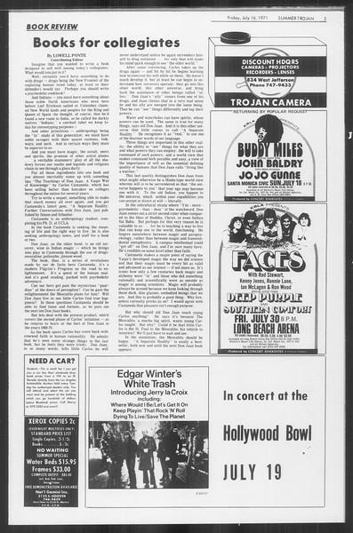 Summer Trojan, Vol. 63, No. 10, July 16, 1971