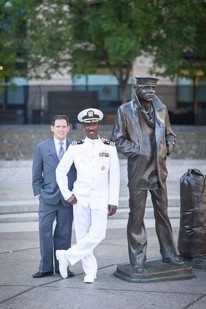 F+J 01 Couple @ Navy Memorial