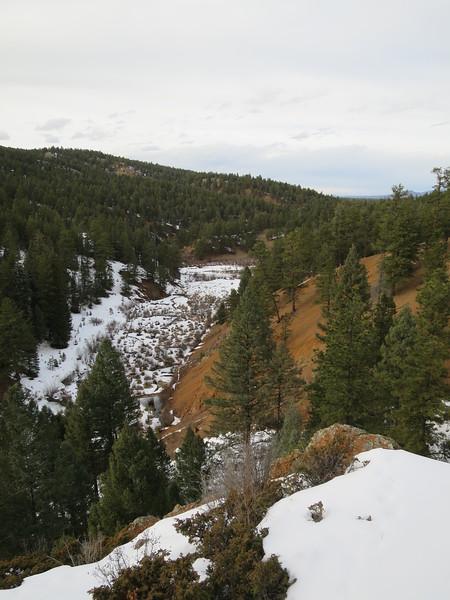 View down canyon.