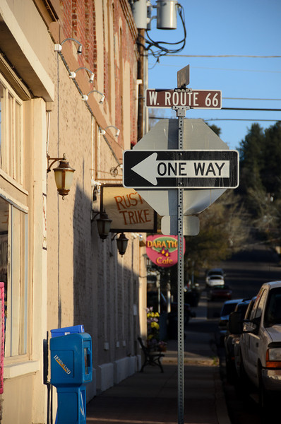 Loved the signs --- One way - Route 66 West.