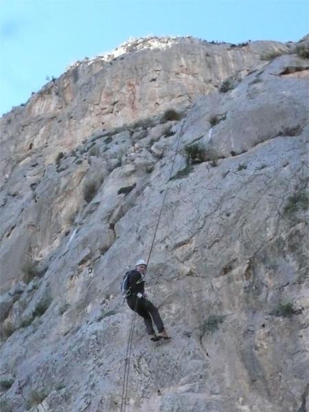 On the Ponoch Via Ferrata 35 metre abseil