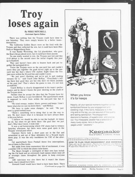 SoCal, Vol. 62, No. 29, November 02, 1970