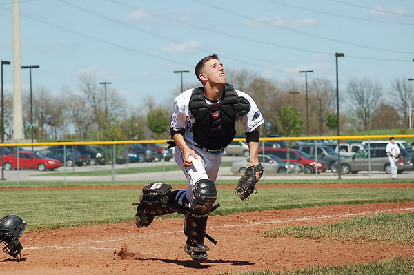 Spring Baseball 07 - ONW vs Olathe South Freshman - Jake is #30 Catcher