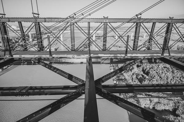 Vue depuis le tablier du Pont Transbordeur Rochefort-Echillais