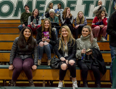 Winter Cheer and Crowd at Girls Varsity Basketball v Aberdeen 2018