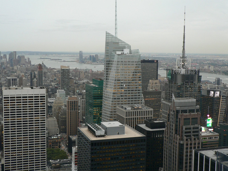 """View from """"Top of the Rock"""" towards East River"""