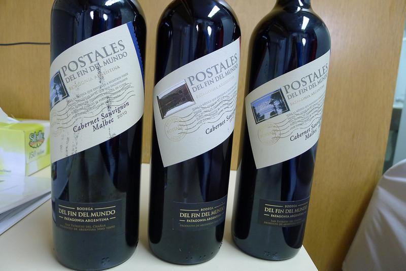 Fin Del Mundo:  good wine I got in Ushuaia for the trip..
