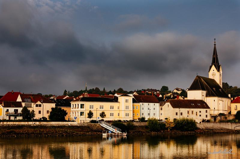 Sunrise on Danube River