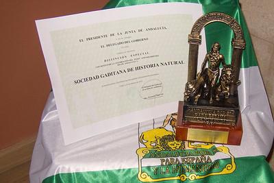 Concesión Bandera de Andalucía a la SGHN