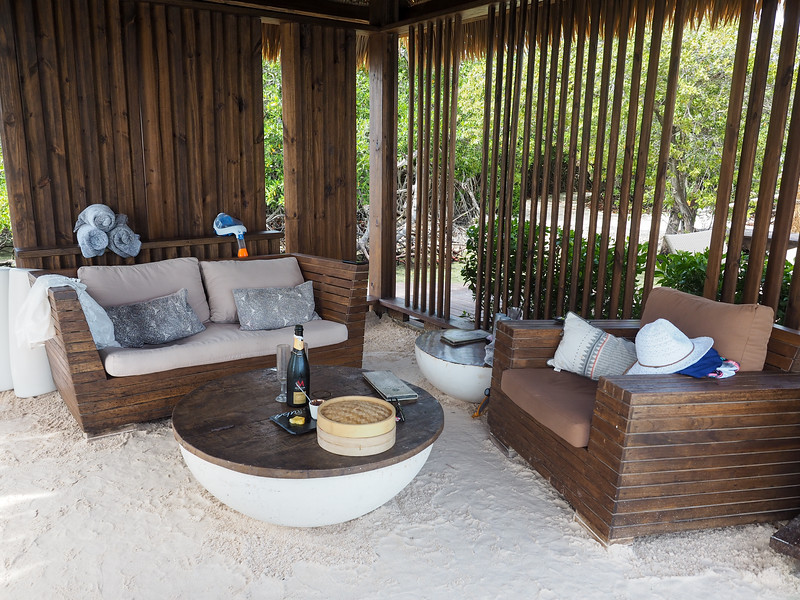 Private cabana on Flamingo Beach in Aruba