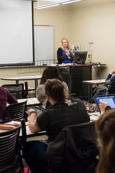 15480 Lecturer Angela Harris in class 4-7-15