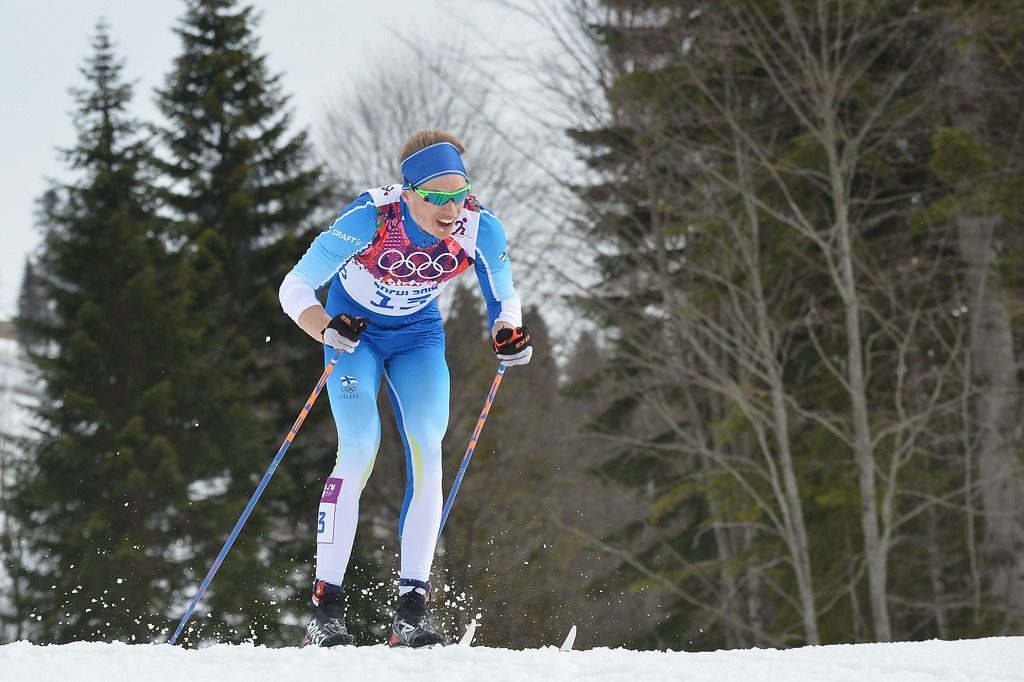 . Finland\'s Iivo Niskanen competes in the Men\'s Cross-Country Skiing 15km Classic at the Laura Cross-Country Ski and Biathlon Center during the Sochi Winter Olympics on February 14, 2014 in Rosa Khutor near Sochi. AFP PHOTO / ALBERTO PIZZOLI/AFP/Getty Images