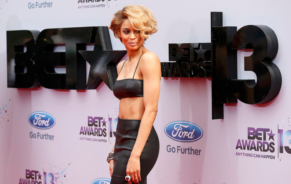 Description of . Singer Ciara arrives at the 2013 BET Awards in Los Angeles, California June 30, 2013. REUTERS/Danny Moloshok