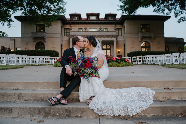 Katie and Philip's wedding at the Mansion at Woodward Park in Tulsa Oklahoma