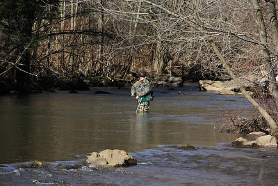 First Day of Trout Season, Bottom of Hometown Hill, Little Schuylkill River, Tamaqua (3-30-2013)